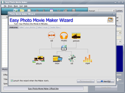 easy photo movie maker software free  full version